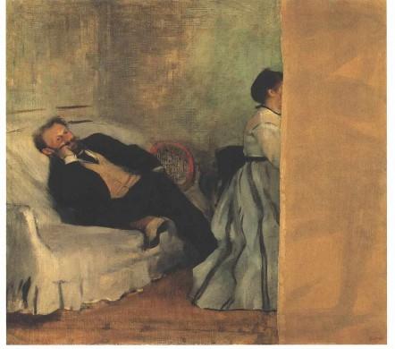 Edgar Degas, Het Echtpaar Manet, 1869