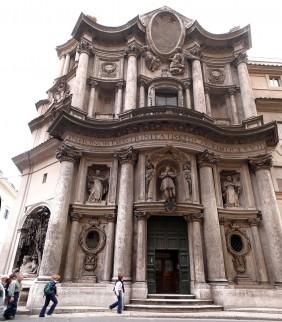Foto van de San Carlo alle Quattro Fontane kerk, te Rome