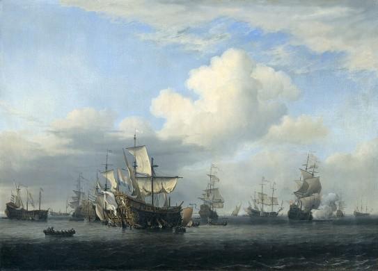 Veroverde Engelse schepen na de Vierdaagse Zeeslag (1666)