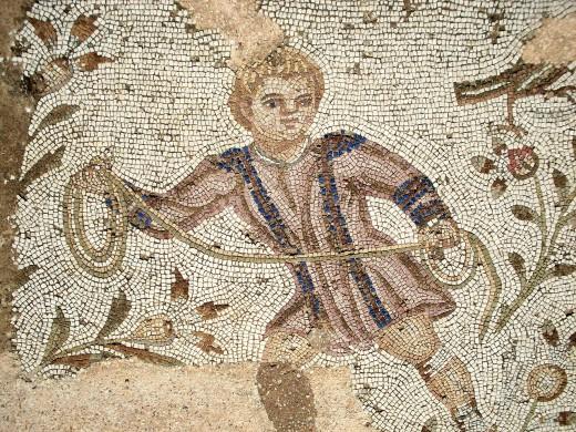 Romeins mozaïek uit Carthago, uit de zogenaamde 'Villa de la Volière'