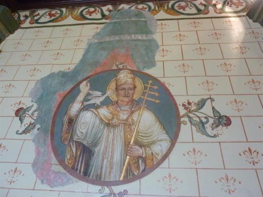 Gregorius de Grote in de Clemenskerk te Merkelbeek