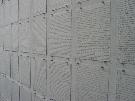 Witte achtergrond, geschreven tekst