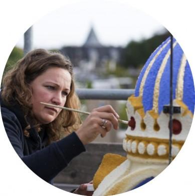 Jojanneke polychromie Mariakapel nieuwe Bavo. Foto Margaretha Svensson 2013