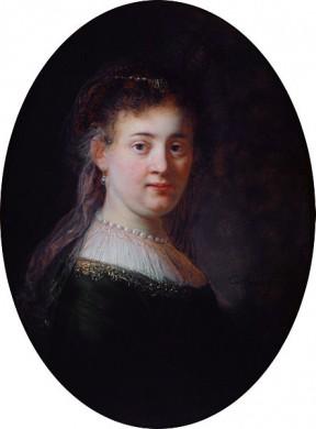 Saskia van Uylenburgh door Rembrandt van Rijn