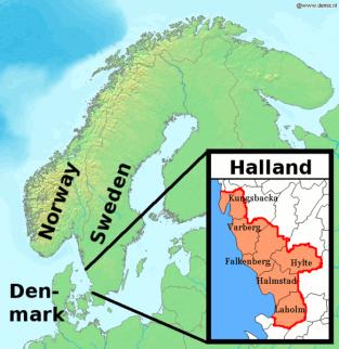 Zweedse provincie Halland