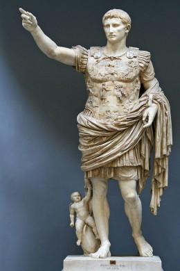 Standbeeld van keizer Augustus, de zogenaamde 'Augustus Prima Porta'