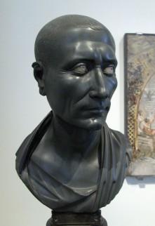 Foto van buste van Julius Caesar, 1e eeuw n.Chr.