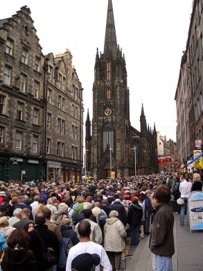 De Royal Mile in Edinburgh