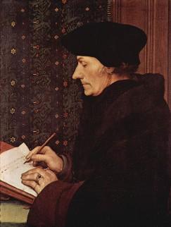 Portret van Erasmus (1523)