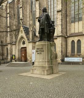 Monument ter ere van Bach in Leipzig