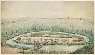 Aquarel fort in de collectie van het Noord-Hollands Archief.