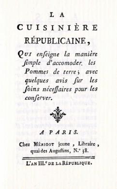 Titelblad van La Cuisinière républicaine