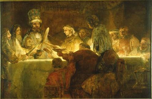 Foto van de 'Bataafse Eed' door Rembrandt van Rijn