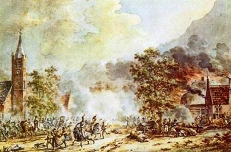 Schilderij van de slag bij Castricum