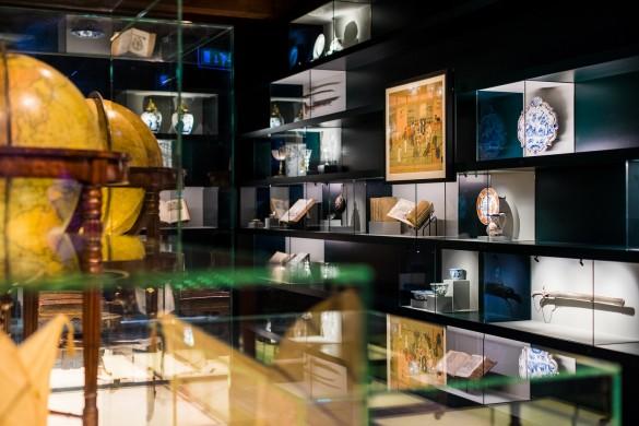 De tentoonstelling Cartografie & Curiosa in Het Scheepvaartmuseum in Amsterdam.