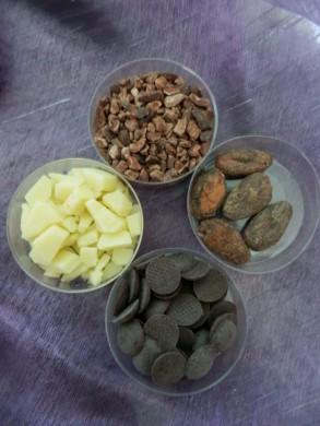 Bestanddelen chocolade