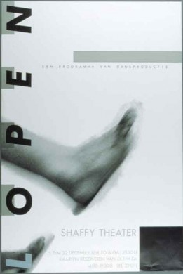 """Poster van """"Lopen"""", opgevoerd door Dansproductie"""