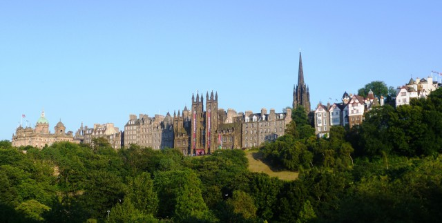 Old Town of Edinburgh, seen from Princes Street
