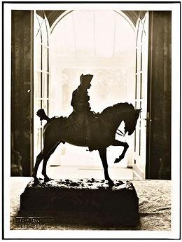 Ruiterstandbeeld Frederik de Grote bij Huis Doorn