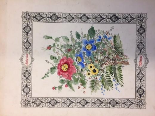Museum week 2018 | Bloemstuk van Delphine Cuypers-van Povel. Herkomst Joseph Cuypers Collectie Gemeentearchief Roermond. Foto Joyce van Cruchten, Cuypershuis 2018.