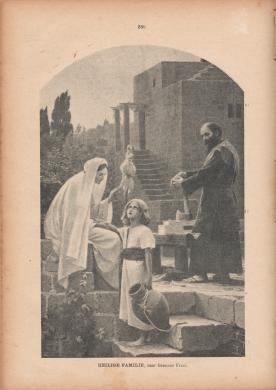 Gebhard Fugel, De Heilige Familie, afkomstig uit het Godsdienstig Weekblad voor het Bisdom Haarlem Sint Bavo, 1900. Scan bvhh.nu 2016.