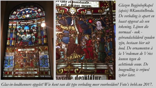 Aparte verloding glas in lood Begijnhofkapel Breda. Collage, tekst en foto's bvhh.nu 2017