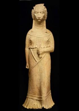 Godin met leeuwenhoofd, mogelijk Sekhmet, eerste eeuw na Christus