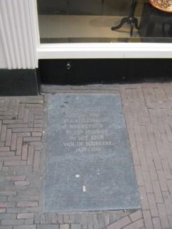 Suster Bertken, Grafsteen, Choorstraat, Utrecht,
