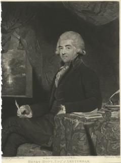 Gravure van schilderij van Henry Hope door Joshua Reynolds