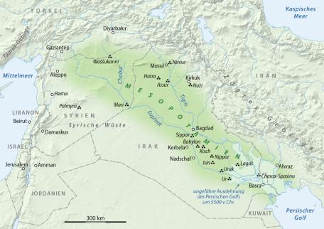 Kaart van Mesopotamië