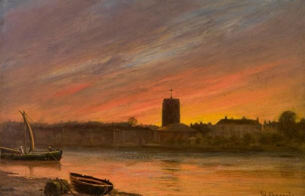 De hemel boven Chelsea door William Ashcroft, 1883