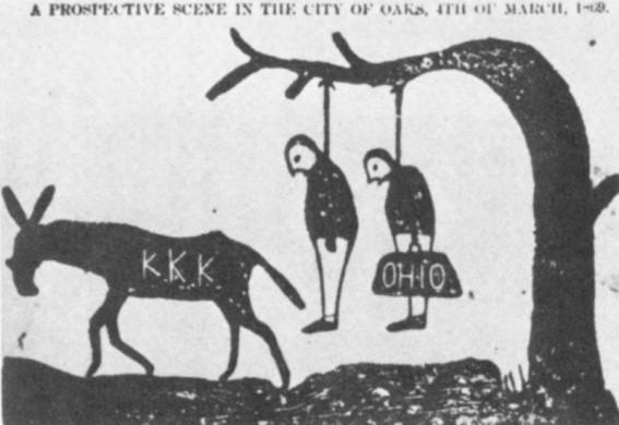 Ku Klux Klan cartoon uit Independent Monitor