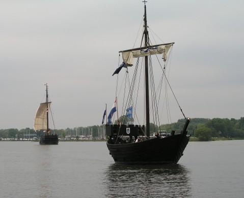 De Kamper Kogge, een replica van een middeleeuws koggeschip