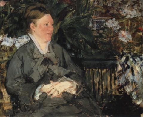 Édouard Manet, Mme Édouard Manet dans la Serre, 1879