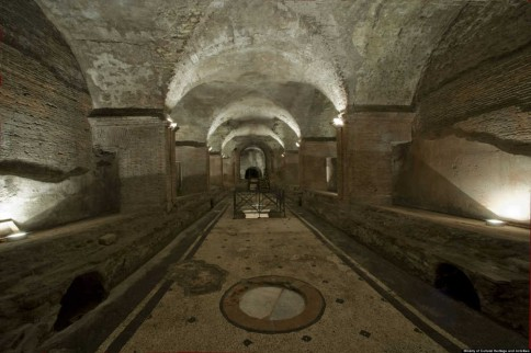 Het Mithraeum onder de Baden van Caracalla