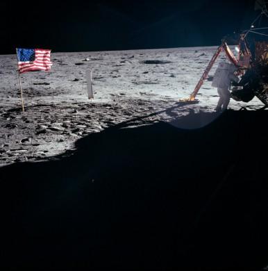 Neil Armstrong op de maan