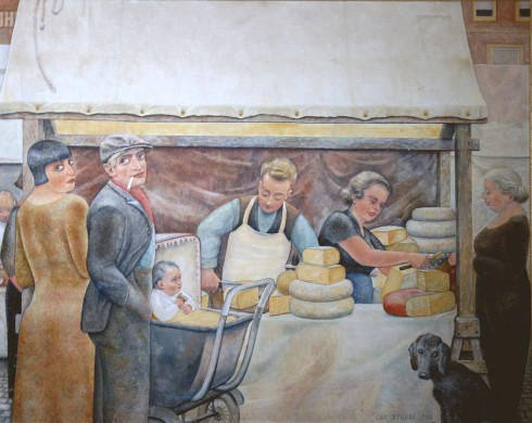 kaasstalletje olieverf 1935