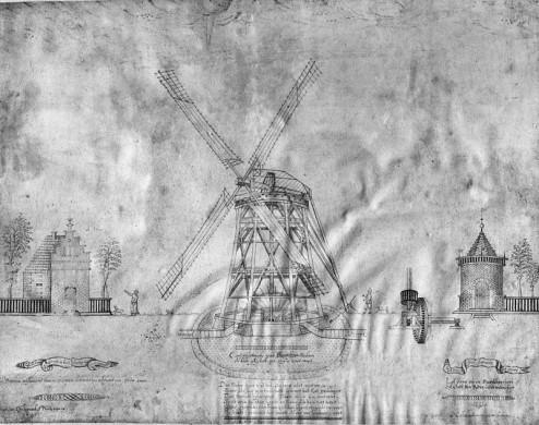 pentekening molen Leeghwater