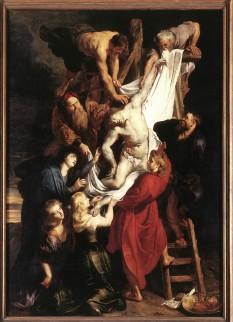 Foto van schilderij 'Kruisafneming' door Peter Paul Rubens, O.L. Vrouwe Kathedraal, Antwerpen.