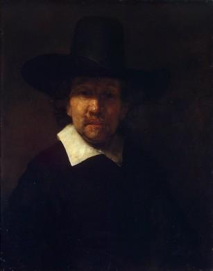 Portret van Jeremias de Dekker, door Rembrandt van Rijn