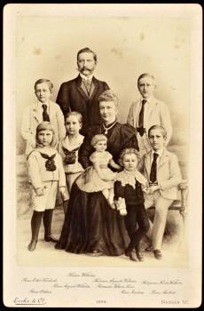 Portret Wilhelm II met Augustine Victoria