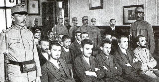 Het proces tegen de aanslagplegers in Sarajevo