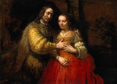 Foto van schilderij 'De Joodse bruid'