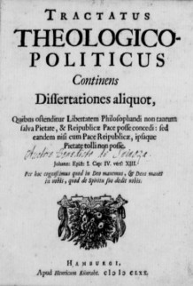 Afbeelding boek Tractatus Theologico-Politicus van Spinoza