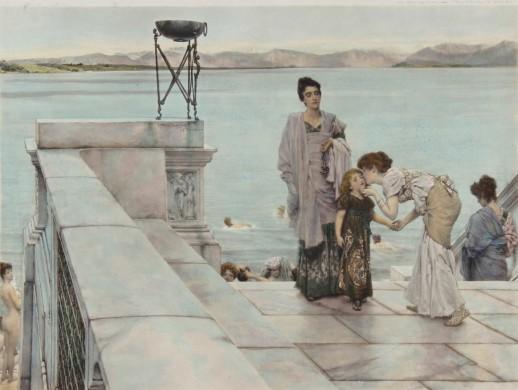 The Kiss  antieke prent Lourens Alma-Tadema