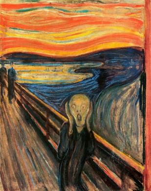 Der Schrei der Natur, bekend als De Schreeuw, door Edvard Munch