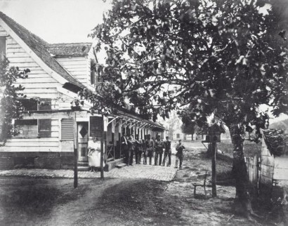 Foto van Fort Sommelsdijck in Suriname, 1884