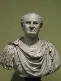 Foto van een buste van Vespasianus in het Pushkin Museum