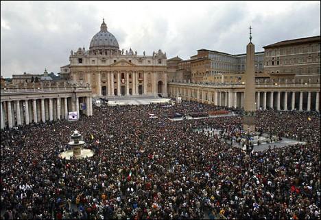 Het Sint-Pietersplein te Vaticaanstad