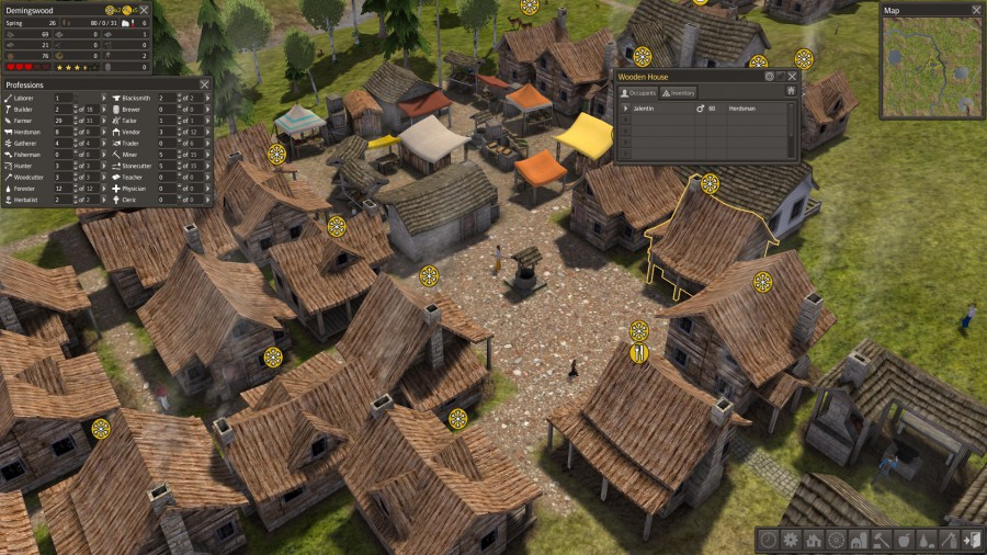 Screenshot van het computerspel Banished